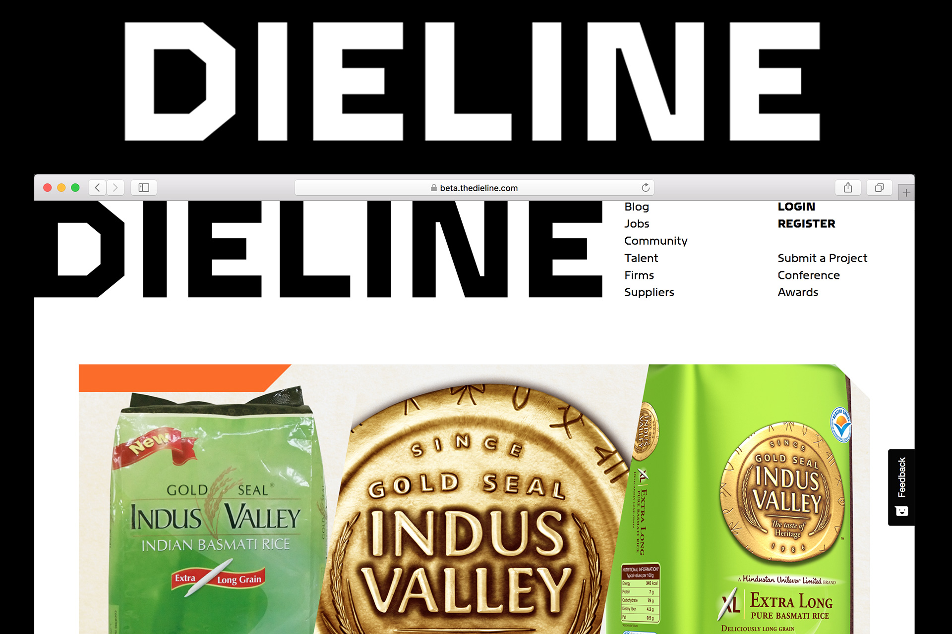 Dieline Featuring Gold Seal Indus Valley