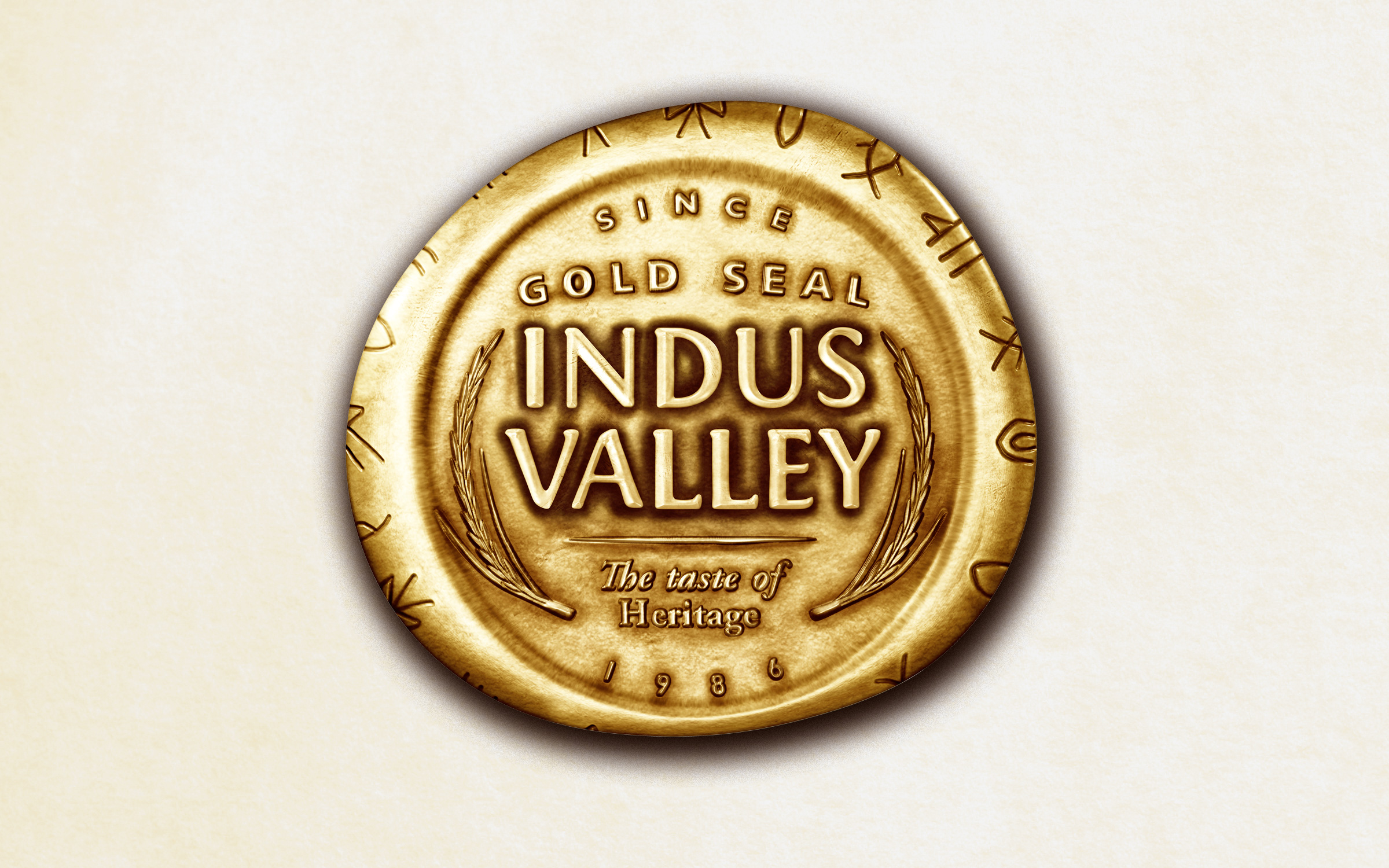Packaging identity for Gold Seal Indus Valley