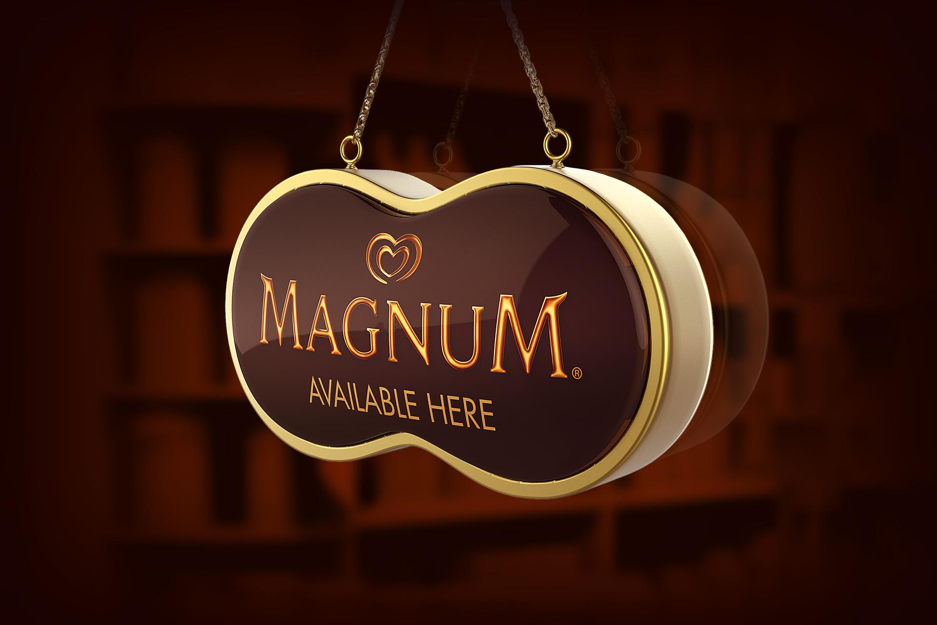Magnum Ice Cream Retail Design - Signage