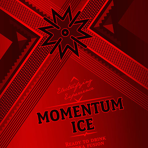 brand identity for read to drink beverage in the Kenyan Market. Momentum Ice